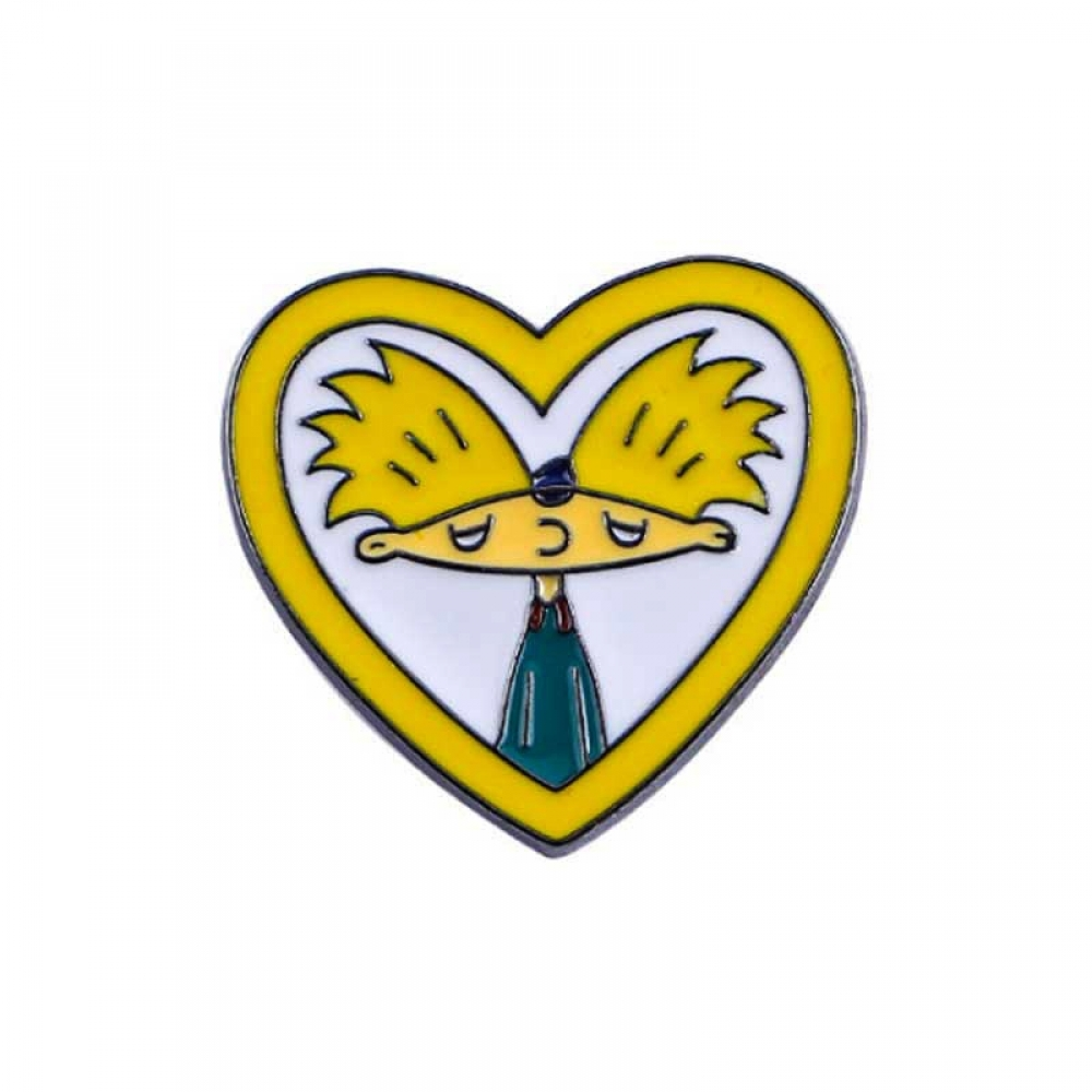 Пін Металевий Hey Arnold Heart