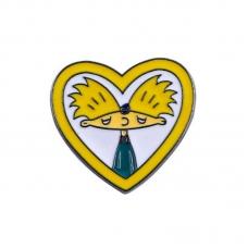 Пин Значок Металлический Hey Arnold Heart