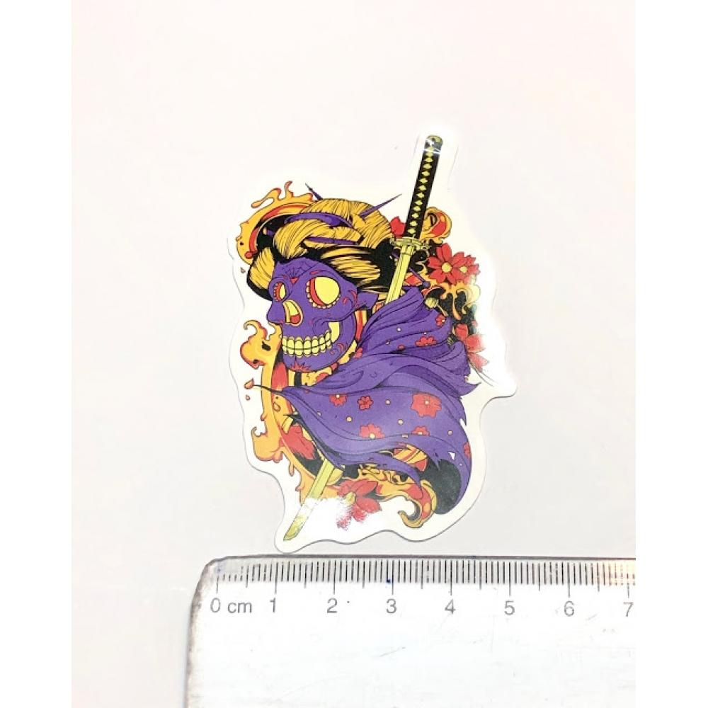 Стикер наклейка Samurai Skull