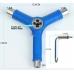Універсальний ключ (інструмент) для скейта BB Blu 6-в-1