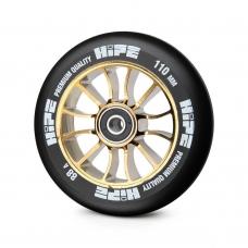 Колесо для трюкового самоката Hipe H01 110мм, gold/black