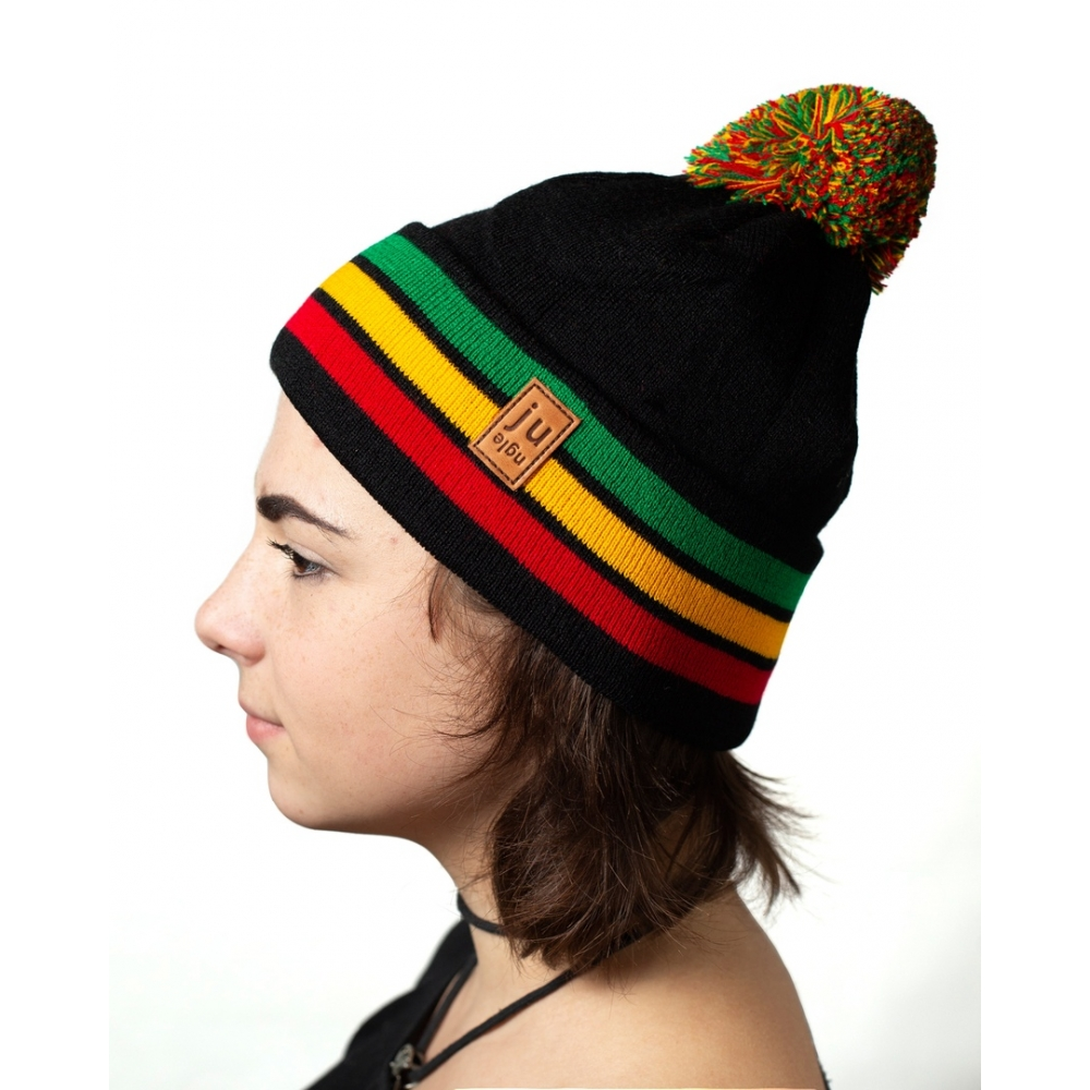 Шапка Jungle Pom rasta