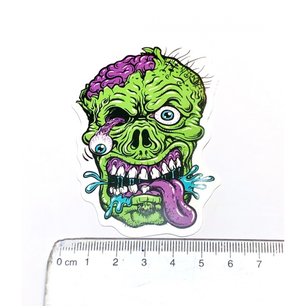 Стікер наклейка Green Zombie