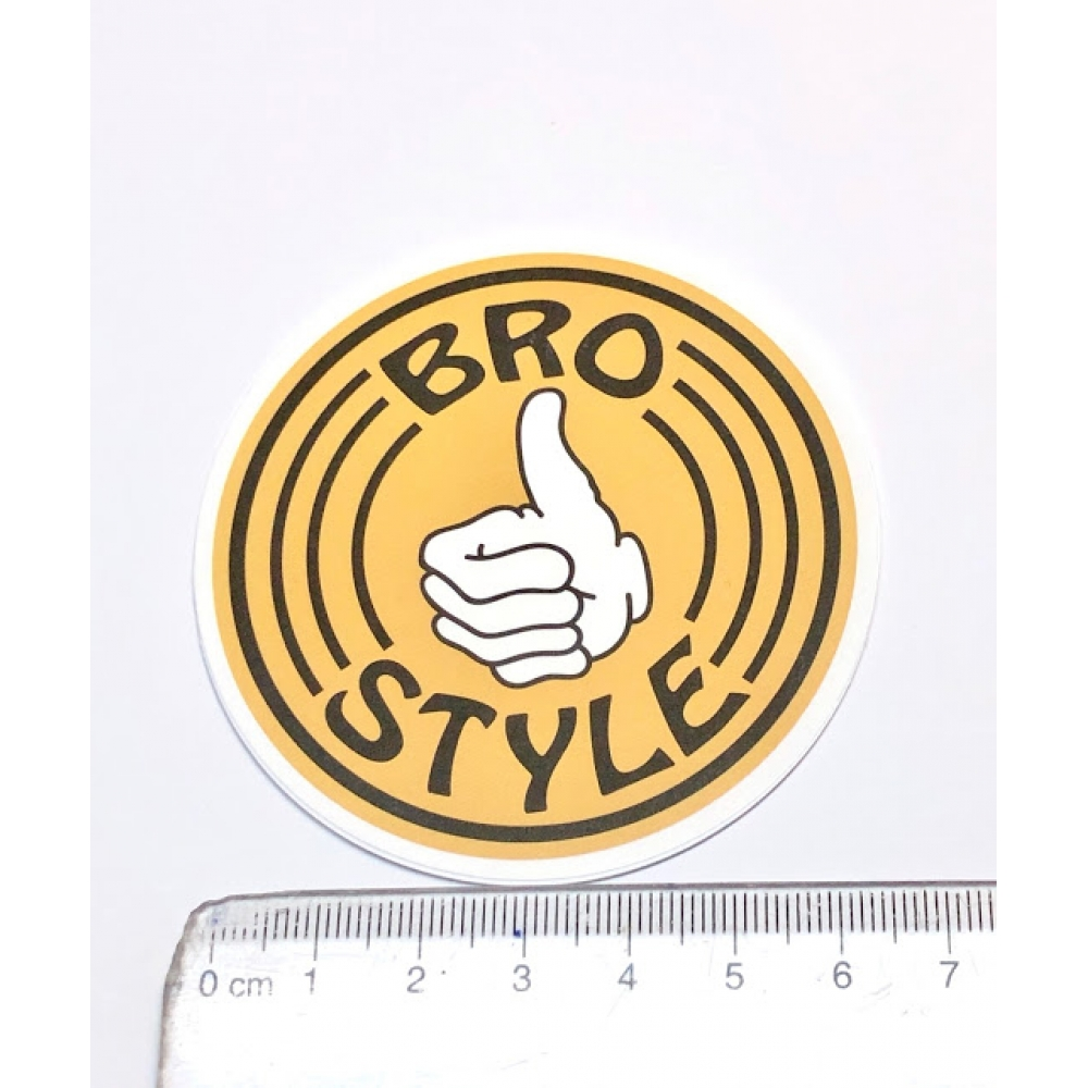 Стикер наклейка Bro Style