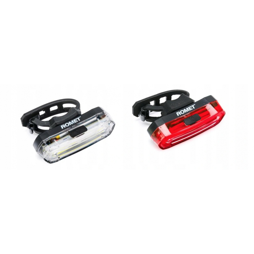 Комплект фонариков для велосипеда Romet JY-6055F + JY-6055T