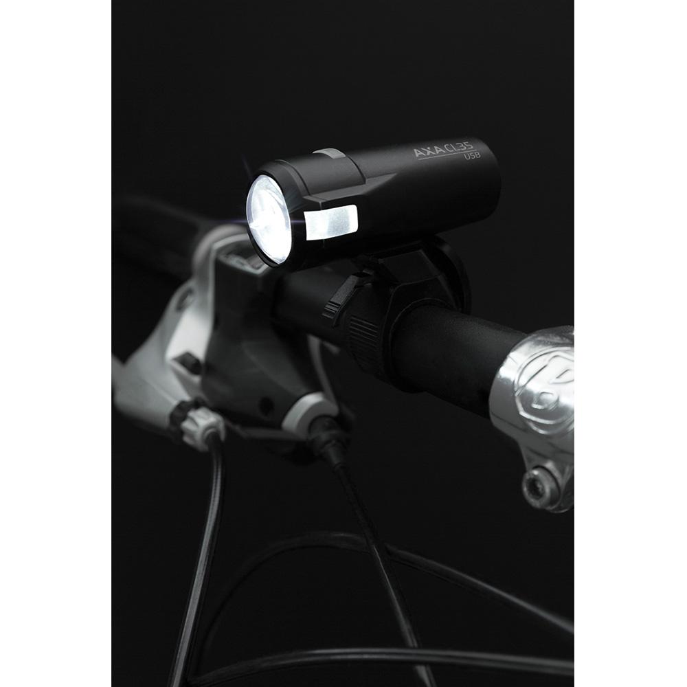 Комплект ліхтариків на велосипед AXA Compact Line 35 Set Usb