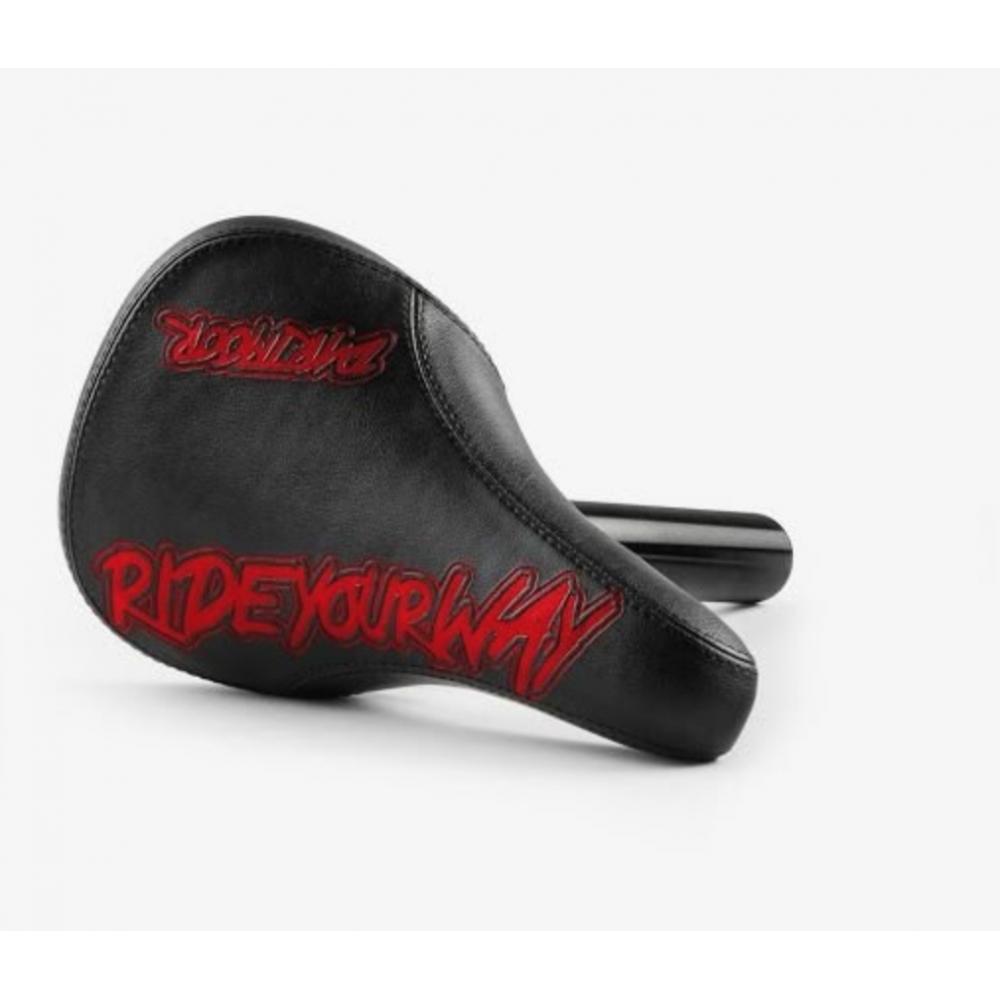 Седло с подседелом Dartmoor Fatty Combo 27.2x200mm post, black/Red Devil eco-leather