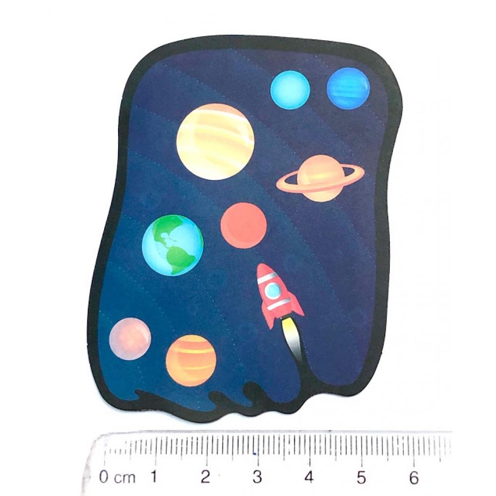 Стикер наклейка Solar System Rocket