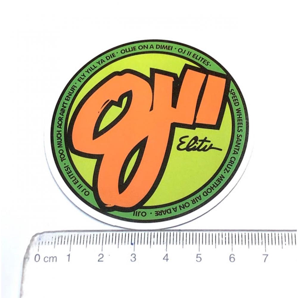 Стікер наклейка OJ Wheel Logo