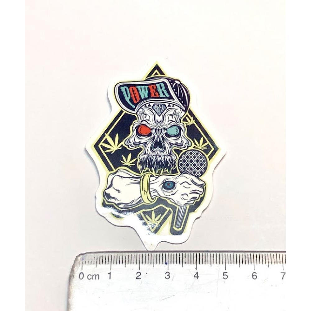 Стикер наклейка Power Skull