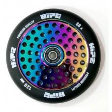 Колесо для трюкового самоката Hipe 120мм black/neo chrome
