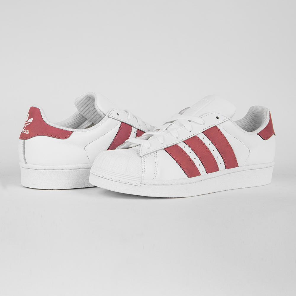 Кроссовки Adidas Superstar J wht/pnk