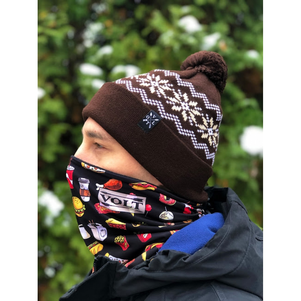 Шапка Volt Snow POM Brn