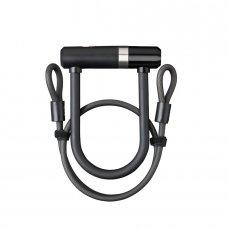 Велозамок AXA Newton U-Lock Mini Pro 140/16 + Cable100/10 чорний