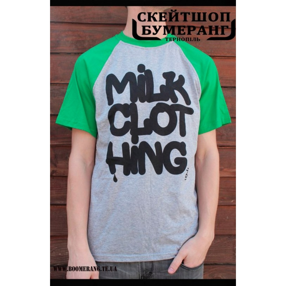 Футболка Milk Clothing Green Grey