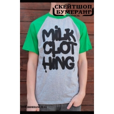 Футболка Milk Clothing Green Grey